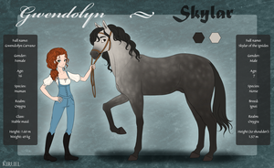 Gwendolyn and Skylar - Reference by Kiruel