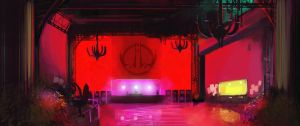 Balcony Nightclub Design by Mothmandraws