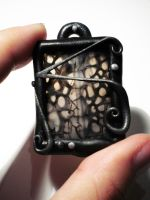 Spiderweb Agate Pendant by FelineArtisan