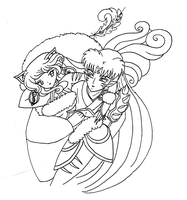 MimiRu carried by Sesshomaru by bluebellangel19smj