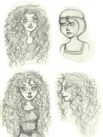 Merida sketches by SerifeB