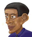 Obama Blind Caricature by BorogoveLM