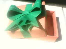 Origami Modular box with Ribbon by maglor666