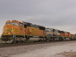 BNSF Coal Train by mkowalewski