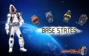Kamen Rider Fourze Base States by blakehunter