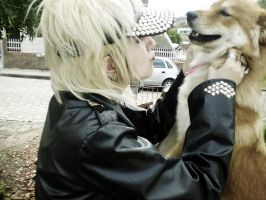 Ruki and his big dog xD by oishii-tomato