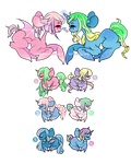 (OPEN) Breedable Ponies - collab w/ WrongCog by Carnivvorous