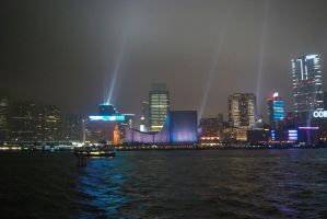 Hong Kong Lightshow 2 by Malakhite