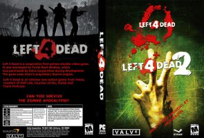 Left 4 Dead 1+2 DVD cover by janemk