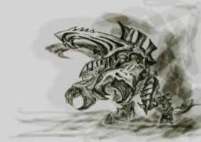 Quick Tyranid Sketch by TheFranology