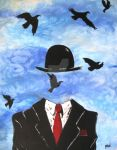 Mind Slop Meets Magritte or Thank You Rene' by Mind-Slop-Art