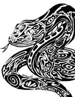 Tribal Serpent by SummonerWolf