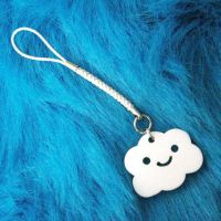 happy cloud keychain by ilovegravy