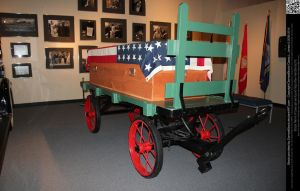 Antique Horse Drawn Hearse and Coffin by DamselStock