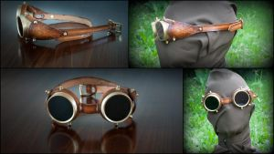 Steampunk Goggles by DorianPipes