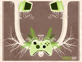 XBOX360 wallpaper by sykologic
