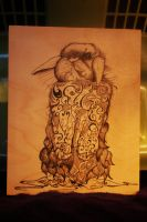 Psychadelic Rabbit in Ink by Mindstate-Free