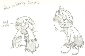Concept - Force the Werehog by GreyScale9