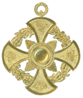 German Dresden Gold Paper Medallion Ornament 2 by EveyD