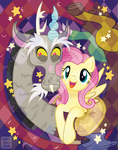 Discord x Fluttershy by inki-drop