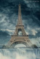 Floods - Eiffel tower by arthame