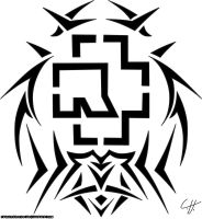 Rammstein Tribal Tattoo by Fangschrecke