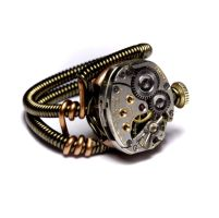 Steampunk Ring Prototype 1 by CatherinetteRings