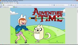 Me and my Dog,Tails Adventure Time style by sonazelover132