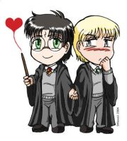 Chibi Harry and Chibi Draco by StudioKawaii