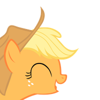 Applejack Laughing by punchingshark