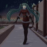 Miku Christmas by wbd