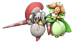 Escavalier and Lilligant
