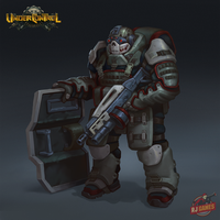 Heavy armored assault soldier by looking4adventures