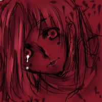 Tears of blood. by ChibiCorrine