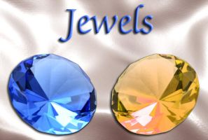 Blue and Topaz Jewels by shiftercat