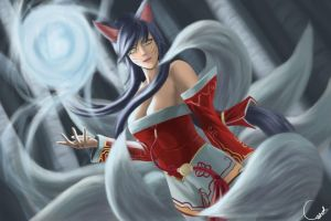 Ahri by Cyderath
