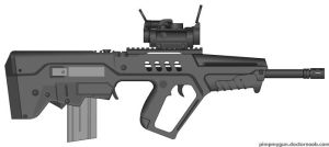Travor TAR 21 assault rifle by shadowcompanysoldier