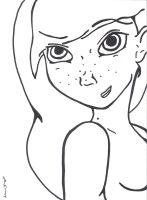 Freckles Outline by ForeverFox