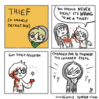 STOP! THIEF! by theamazingwrabbit