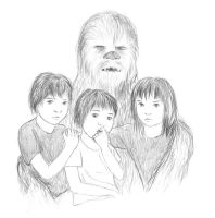 Chewie and the kids by SvenjaLiv