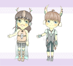 [Auction] - Adoptable Set 1 - {OPEN] by bubotea