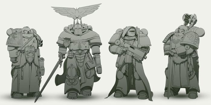 Dark Angels re-design. by TheMaestroNoob