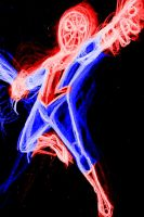 spidey red n blue neon by AlanSchell