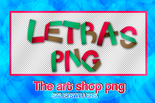 Letras Pack PNG [The art shop] #4 by SaleySwillers