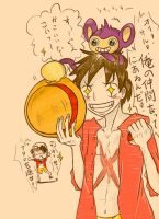 Luffy-Pom by mallocchi