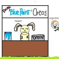 Blue Paint and Oreos by bethrainbow