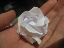 Origami Rose by musicmixer112