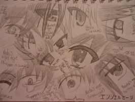 Angel Beats! Eye Collage by 6-9Changeling