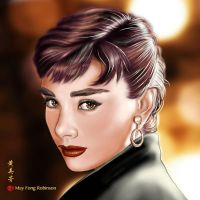 Audrey Hepburn - speed painting by MayFong
