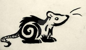Tribal Rat/Mouse Tattoo Design by XcubX